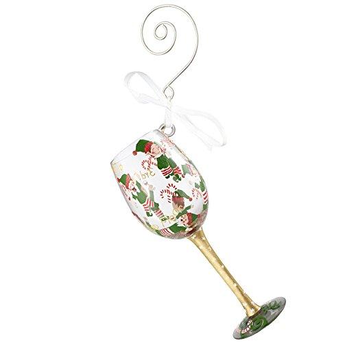 Enesco Lolita Tipsy Elf - Hanging Ornament (Glass Lolita Ornament Wine)
