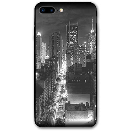 iPhone 7 Plus Case/iPhone 8 Plus Case I Love New York Soft Rubber Cover Lightweight Slim Printed Protective Case (Electronic Puzzle New York)