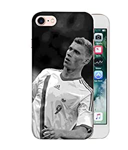 ColorKing Football Pogrebnyak Russia 01 Grey shell case cover for Apple iphone 8