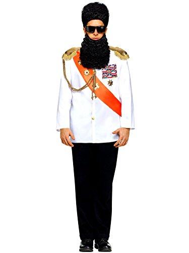 Military Jacket Adult Costumes - FunWorld Military Jacket Adult Costume, White, One size
