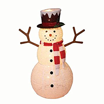 Amazon everstar us 52 pop up snowman with scarf outdoor everstar us 52quot pop up snowman with scarf outdoor elegant efficeint durable stylish christmas workwithnaturefo