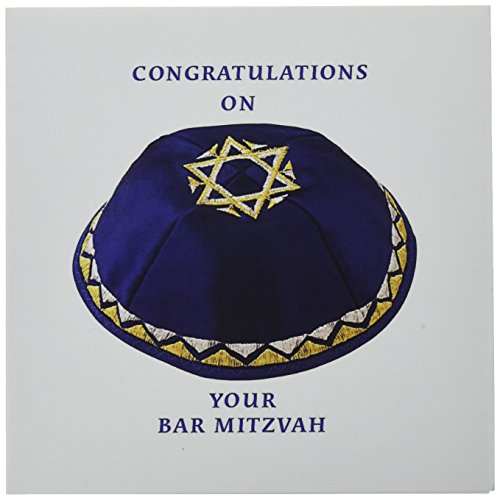 3dRose Bar Mitzvah Boy - Greeting Cards, 6 x 6 inches, set of 6 ()