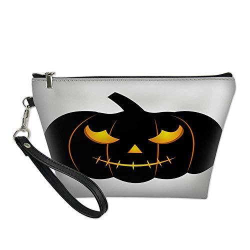 makeup bag pouchcosmetic carrying bagabstract halloween pumpkin1111 8.5