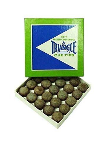 Grobe Körnung Leder Triangle Queue 13 mm Queue Triangle Tipps (Box Of 50) von Sterling Gaming 5be6fe