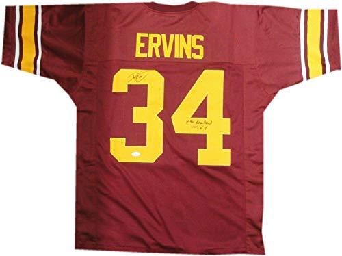 Ricky Ervins Signed Jersey - USC Trojans 1990 Rose Bowl #34 - JSA Certified - Autographed NFL Jerseys