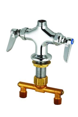 TS Brass B-0200-LN Double Pantry Faucet, Chrome (Bottom Mount Kitchen Faucet)