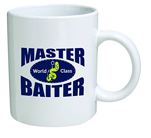 Funny Mug - Master Baiter, bass, fishing - 11 OZ Coffee Mugs - Inspirational gifts and sarcasm - By A Mug To Keep TM