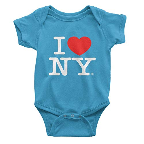 - I Love NY New York Baby Infant Screen Printed Heart Bodysuit Turquoise Small