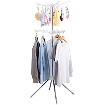 Nice Lifewit Collapsible Clothes Drying Rack Portable 2 Tier Clothes Dryer For  Hanging Laundry