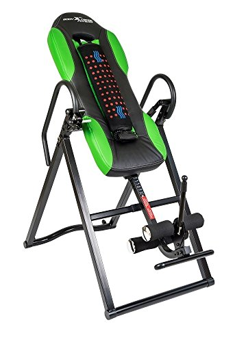 400 Inversion Tables (Body Xtreme Fitness ~ Inversion Table, Advanced Heat and Massage Therapeutic Inversion Table, Comfort Foam Backrest, Back Fitness Therapy Relief + BONUS Cooling Towel)