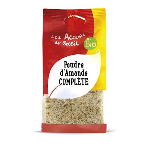 Harina de Almendras Bio, Almendras orgánicas enteras sin blanquear, polvo de almendra cruda sin gluten | 125g | Les Accents du Soleil: Amazon.es: ...
