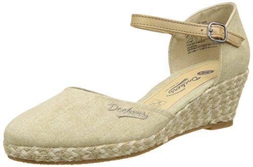 Dockers by Gerli 36is201-706460, Sandalias con Cuña para Mujer Beige (Desert 460)