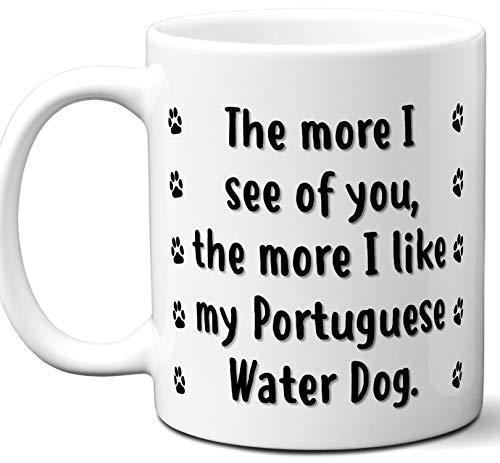 Funny Portuguese Water Dog Gift Mug.