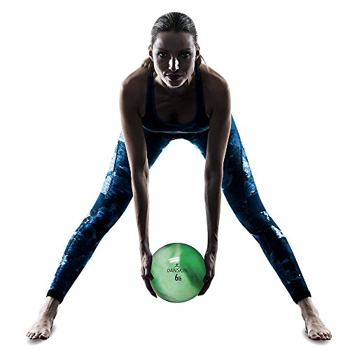 Danskin Weighted Toning Ball for Women, Medicine Ball, Exercise Weight Ball, Strength Training Ball, 6lbs
