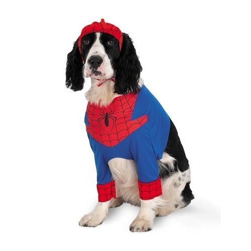 [Disguise Inc Men's Spiderman Pet Costume Multicoloured Small] (Pet Spiderman Costumes)