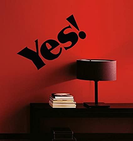 Amazon Com The Word Yes Kids Room Children Stylish Wall