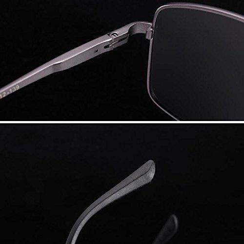 Color Libre Polarizada Gafas 100 UV Gafas 1 Solar Protección Luz Gafas Black WYYY 1 UVA De Inteligente Decoloración Hombres Sol Cuadrada Caja Anti Conducción Gray Protección Aire De Clásico OqgSA