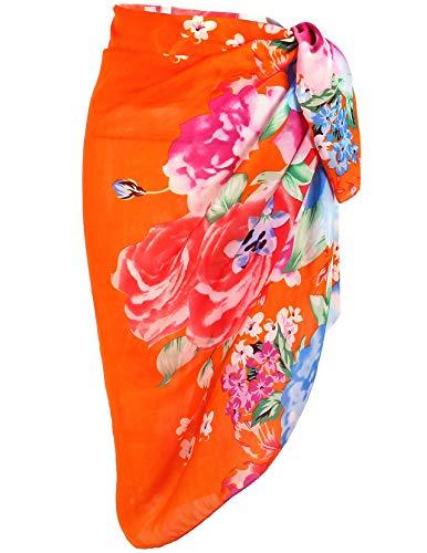 Ayliss Womens Swimwear Chiffon Printed Cover up Beach Sarong Pareo Bikini Swimsuit Wrap,#20 - Floral Wrap Skirt