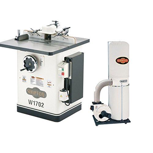 """Price comparison product image Shop Fox W1702 3 HP 220V 30-1 / 2"""" x 28-1 / 4"""" Shaper with W1666 2 HP Dust Collector"""