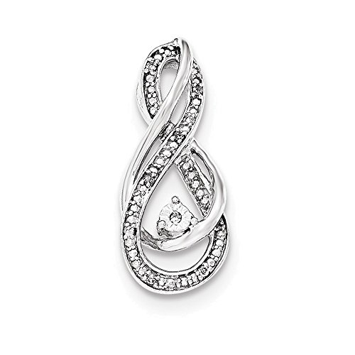 Bracelet Rhodium Diamond Slide - Jewelry Adviser Slides Sterling Silver Rhodium Diam. Infinity Symbol Slide Pendant