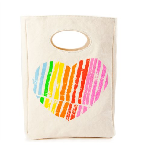 Fluf Organic Cotton Lunch Bag, I Heart You