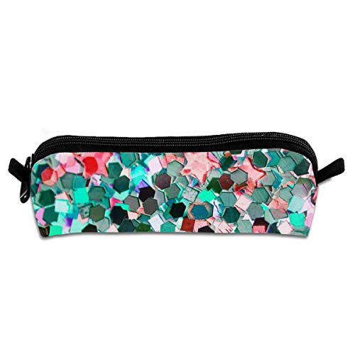 Lcokin Stained Glass Pen Pencil Case Canvas Pen Zipper Holder Stationery Cosmetic Bags Pencil Pouch