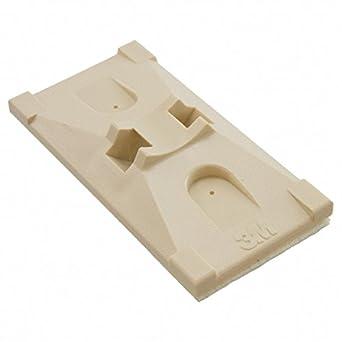 Acrylonitrile Butadiene Styrene ABS 25 mm, Package of 100 25 mm 2 Way Entry 3M CTB1X1BGA-C-Cable Tie Mount Beige Adhesive