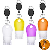 8 Pieces Silicone Travel Bottles Keychains