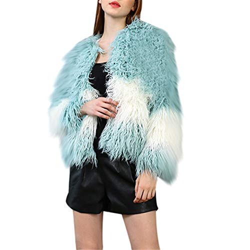 Outerwear Chic - Londony♥‿♥ Clearance,Womens Winter Warm Colorful Faux Fur Coat Chic Jacket Cardigan Outerwear Tops for Party Club Cocktail