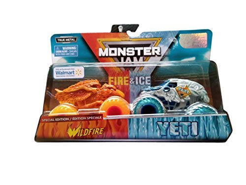 Toy Monster Jam Trucks (MJ 2019 Monster Jam Fire & Ice Wildfire and Yeti Special)