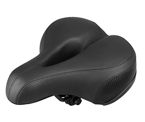 Winningo Woman's Wide Bicycle Saddle, Most Comfortable Bike Seat with Safety Reflective Sticker
