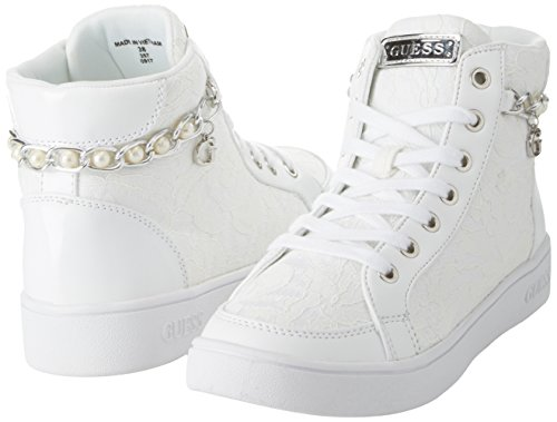 Footwear Lady Sneaker Donna Collo A Active Bianco Alto Guess 41Hdwqq