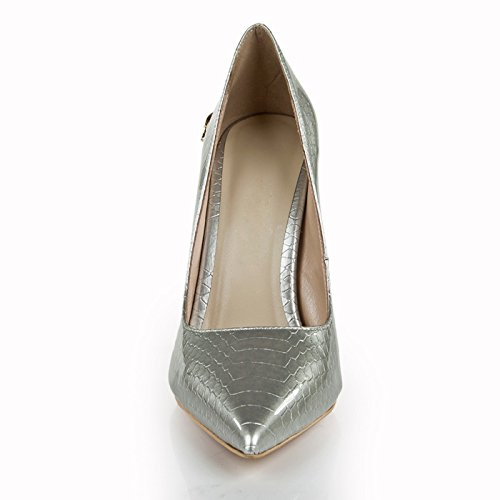 L@YC Women's Shoes High Heel Fall Comfort Pointed Platform Party 11cm Heel/Silver/Green/Blue Silver xokQ9TdTk