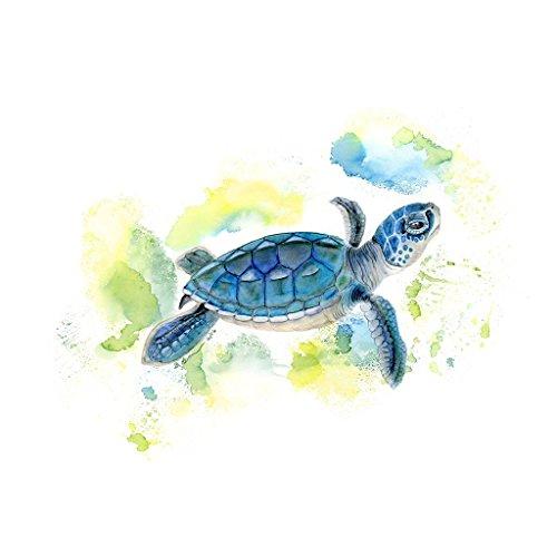 Baby Sea Turtle, Baby Animal Nautical Nursery Print, Gender Neutral - Various Sizes (Tropical Green Sea Turtle)