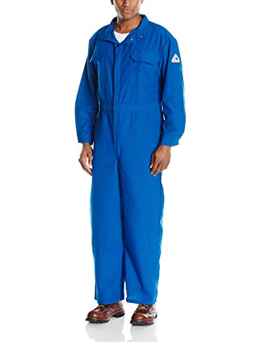 Bulwark Flame Resistant 6 oz Nomex IIIA Regular Premium Coverall with Royal Blue, Size 50
