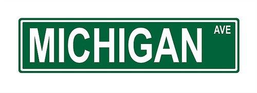 Michigan Ave. Street Sign 24x6 funny joke humor novelty metal aluminum -