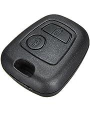 Audew autosleutelbehuizing, radiosleutel met 2 knoppen voor Citroën C1 C2 C3 C4 en Peugeot 107 207 307 407 106 206 306 406