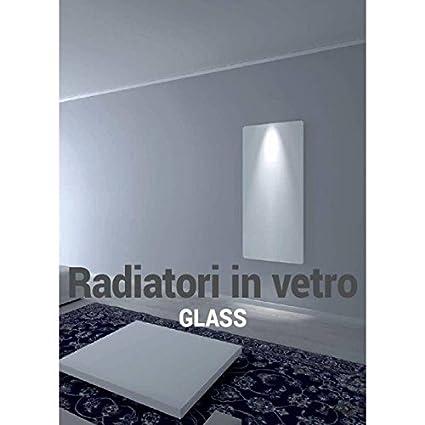 Radiador de vidrio Corner H150 X L 60 cm color blanco Minimo ingombro-ponsi toallero