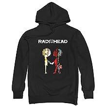 GLMIHOF Men's Radiohead Best Of Poster Hoodie-Black