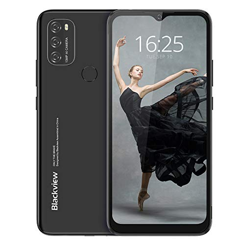 Android 11 Smartphone Libre(2021), Blackview A70 Teléfono Móvil Octa-Core 3GB + 32GB Pantalla Waterdrop HD+ 6.517 '', Cámara Triple 13MP Movil Barato Batería 5380mAh Dual SIM 4G Face ID/GPS- Negro a buen precio