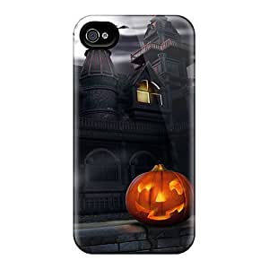 Awesome Haunted House Flip Case With Fashion Design For Iphone 4/4s