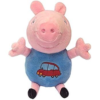 c2cc6c81d29 Rosman Peppa Pig Plush Toy George Pig Plush Figure 7.5 inches with Car