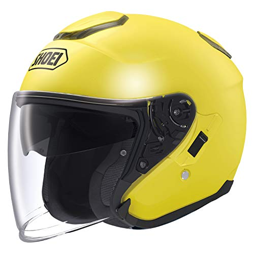 (Shoei J-Cruise Open Face Brilliant Yellow Helmet, L)