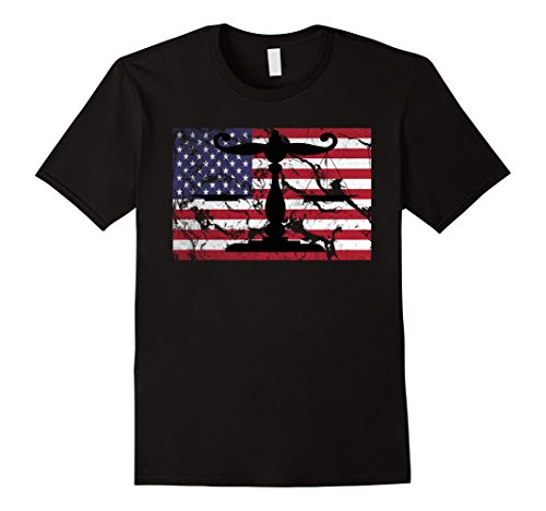 Justice Measurement scale T-Shirt Vintage USA Flag American