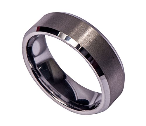 Tungsten Men's Wedding Bands Archer - Comfort Fit Ring, Matte Finish, Cobalt Free - Lifetime Warranty (10)