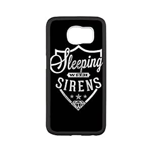 Unique Printing Skin Shell Pattern Phone Case for SamSung Galaxy s6,Sleeping With Sirens,TPU Material Diy Galaxy s6 Cover Case s6-linda365
