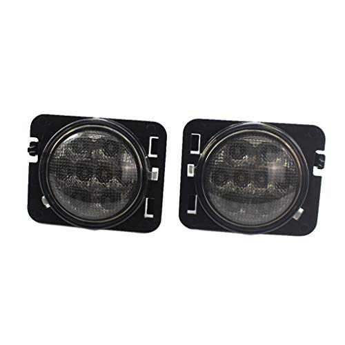 (Waterproof LED Turn Signal Indicator Light Side Marker Replacement For Jeep Wrangler 2007-2017 55077894AD 55077895AD)