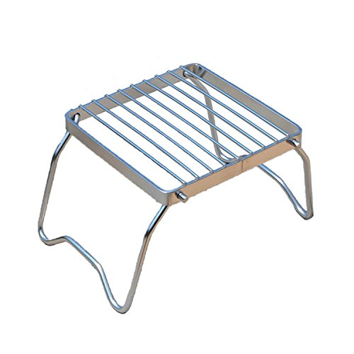 PeleusTech® BBQ Rack Portable Foldable Stainless Steel Gas Burner Stove Stand Rack Bracket Cooking Rack for Outdoor Camping Picnic by PeleusTech®