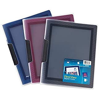 Avery Flexi-View Report Cover, Assorted Colors, Color May Vary, 1 Cover (47856)