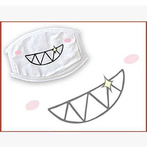 Quietcloud Face Mouth Mask, Lovely Anime Kawaii Mouth-Muffle Smile Grin Kaomoji Anti-dust Cotton Face Mask - #9 Miao by Quietcloud (Image #3)
